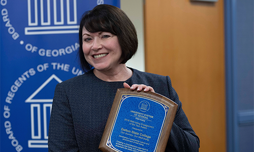 Photo for news article Dalton State College Receives USG 2018 Well-being Recognition Award