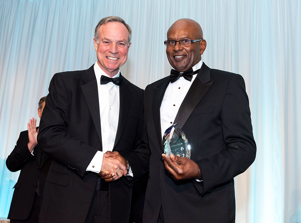 Chairman Don Waters and Savannah State University Alumnus, Captain Donnie Cochran.