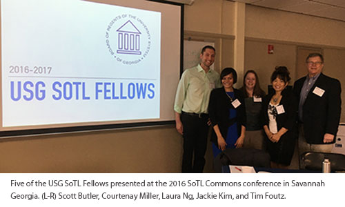 Five USG SoTL Fellows present at the 2016 SoTL Commons conference in Savannah, Georgia.