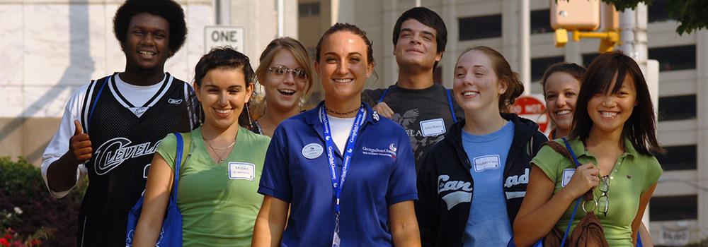 student tour at GSU